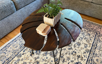 OFF-TOPIC: How To Make A Monstera Leaf Table